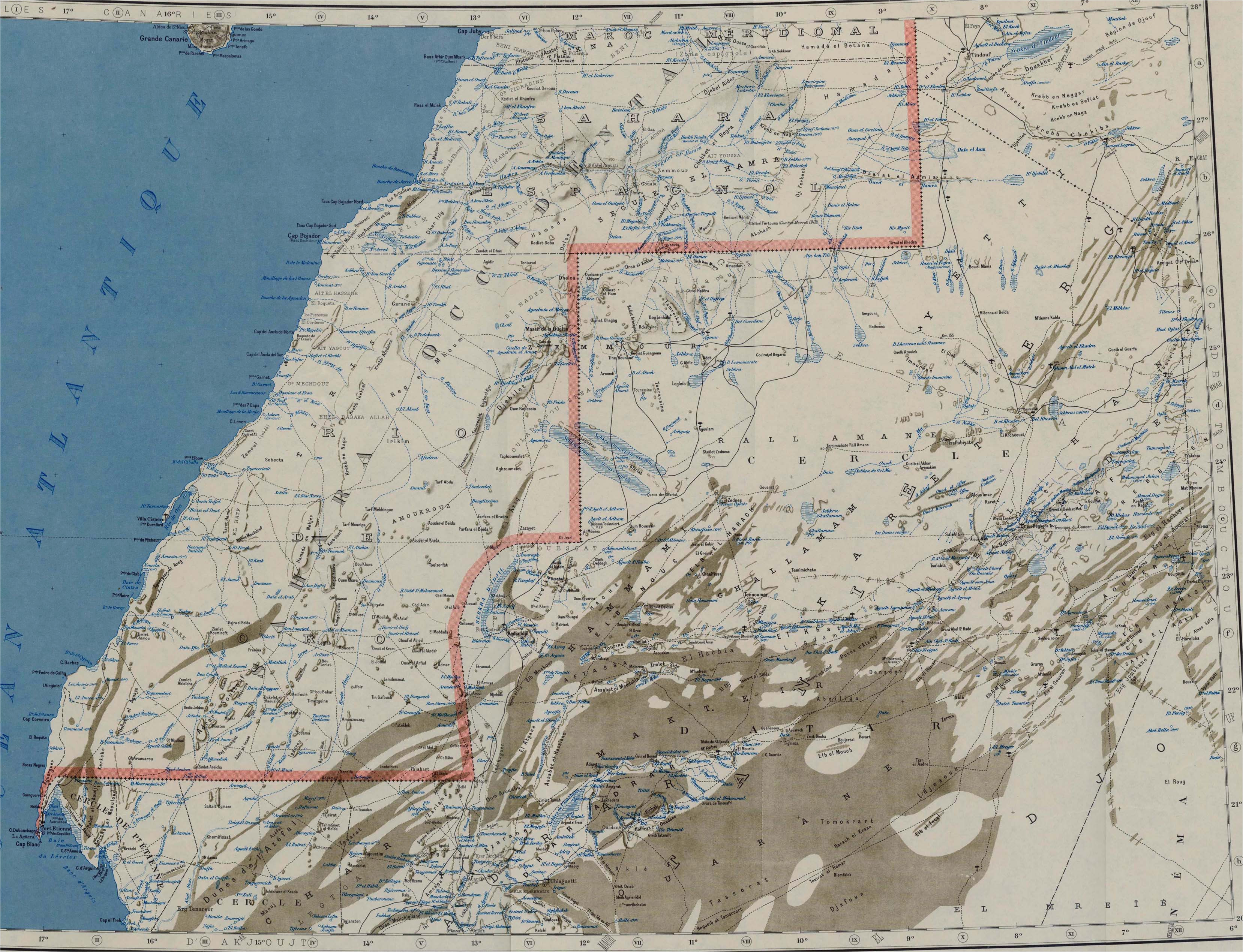 morocco maps perry castaa eda map collection ut library online