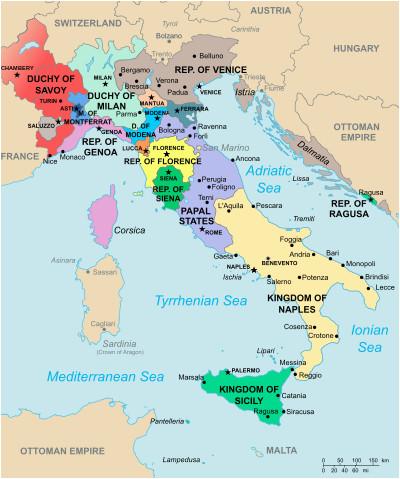 Renaissance Italy 1494 Map Italy In 1494 European History Italia Mapa Historico Mapas
