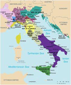 Renaissance Italy Map 1494 | secretmuseum