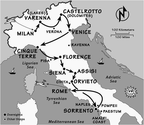 Rick Steves Italy Map Italy Itinerary where and when to Go to Italy by Rick Steves