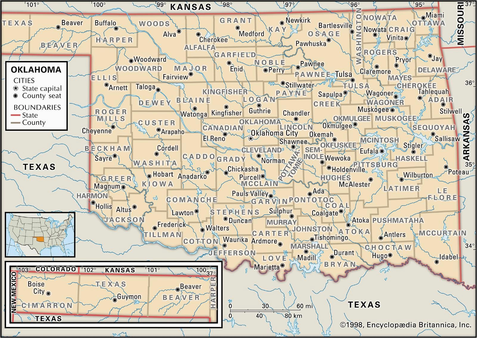 texas oklahoma border map maplewebandpc com