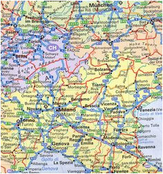 Road Map Of Northern Italy.Road Map Of Switzerland And Italy Cities In Northern Italy Related