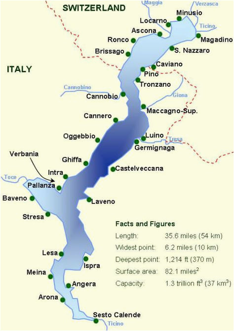 map with all the towns on lake maggiore you can see that the lake