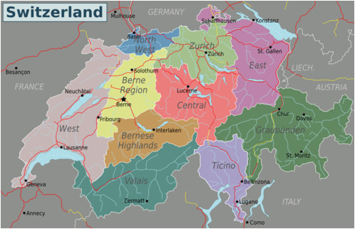 Map Of Italy Switzerland.Road Map Of Switzerland And Italy Secretmuseum