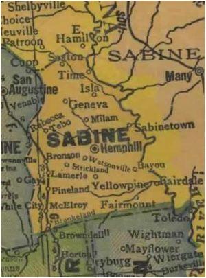 Sabine County Texas Map Sabine County Texas