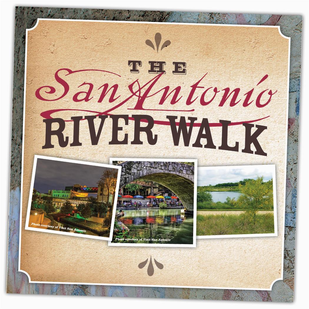 san antonio river walk trail map brochure
