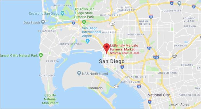 San Diego Little Italy Map Secretmuseum