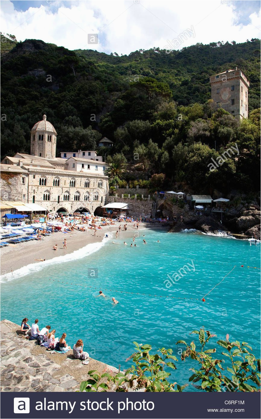 San Fruttuoso Italy Map Download This Stock Image View Of San Fruttuoso Di Camogli Liguria