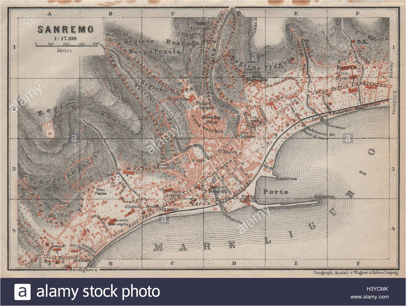 old map of liguria stock photos old map of liguria stock images