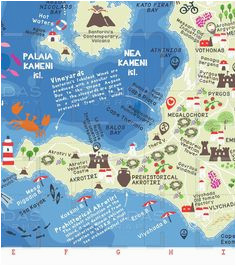 8 best a smart map of santorini images geography map map design