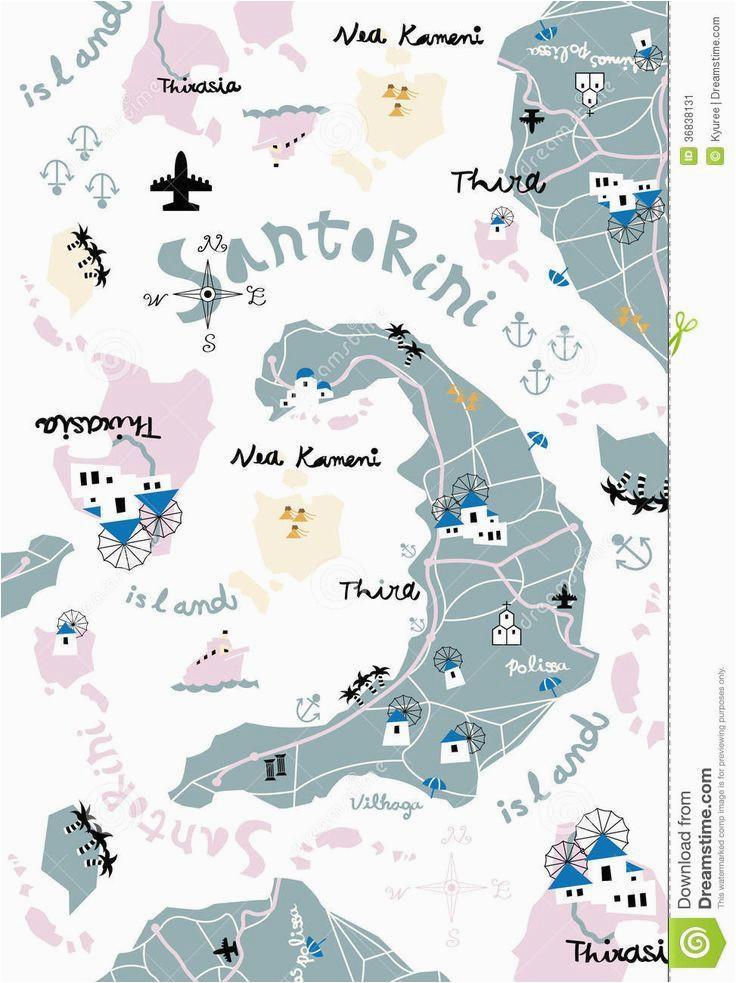 santorini journaling in 2019 santorini map santorini map icons