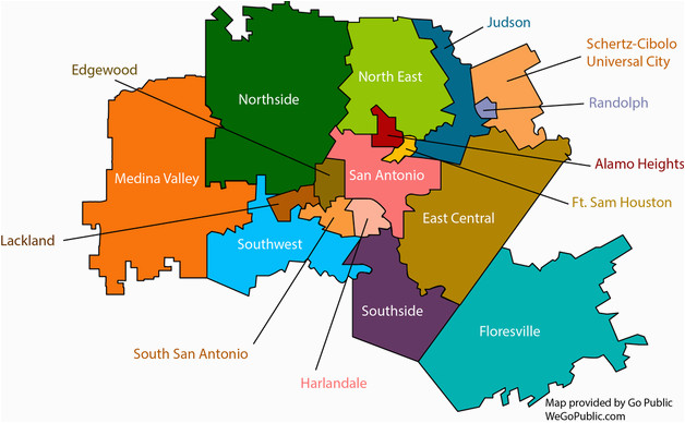 Map Of Texas San Antonio.School District Map Texas San Antonio School Districts Gopublic