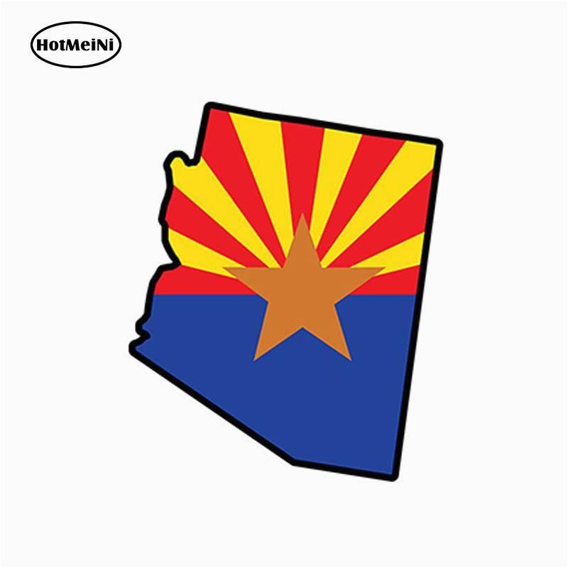 2019 wholesale arizona flag map shape jdm vinyl decals car stickers