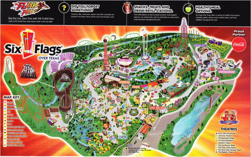 Six Flags Over Texas Arlington Map Six Flags Over Texas