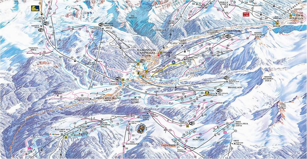 Ski Resorts In Italy Map Bergfex Ski Resort Madonna Di Campiglio Dolomiti Di Brenta