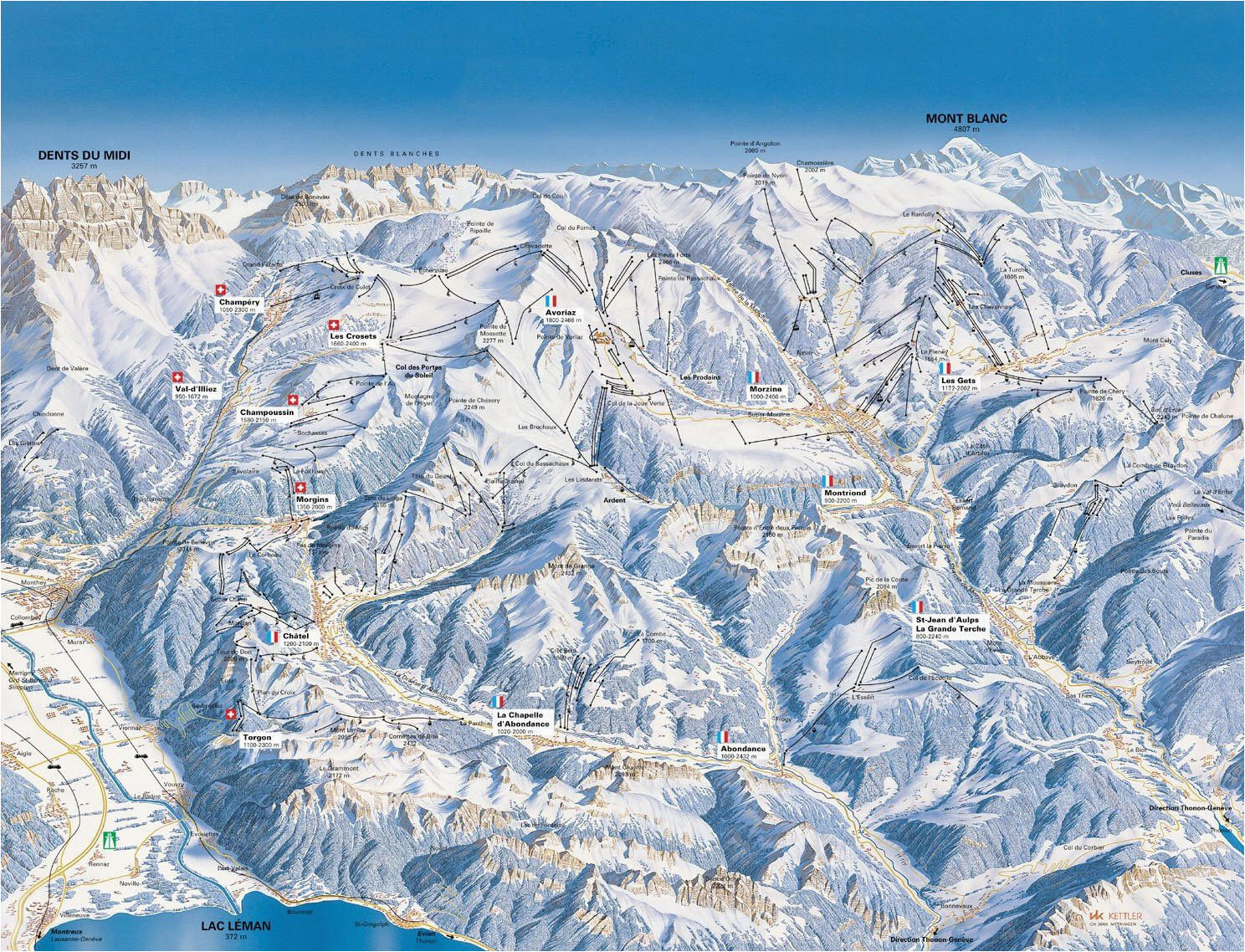 french alps map france map map of french alps where to visit