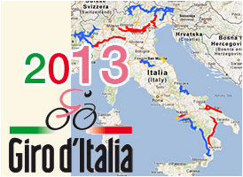 the tour of italy 2013 race route on google maps google earth and