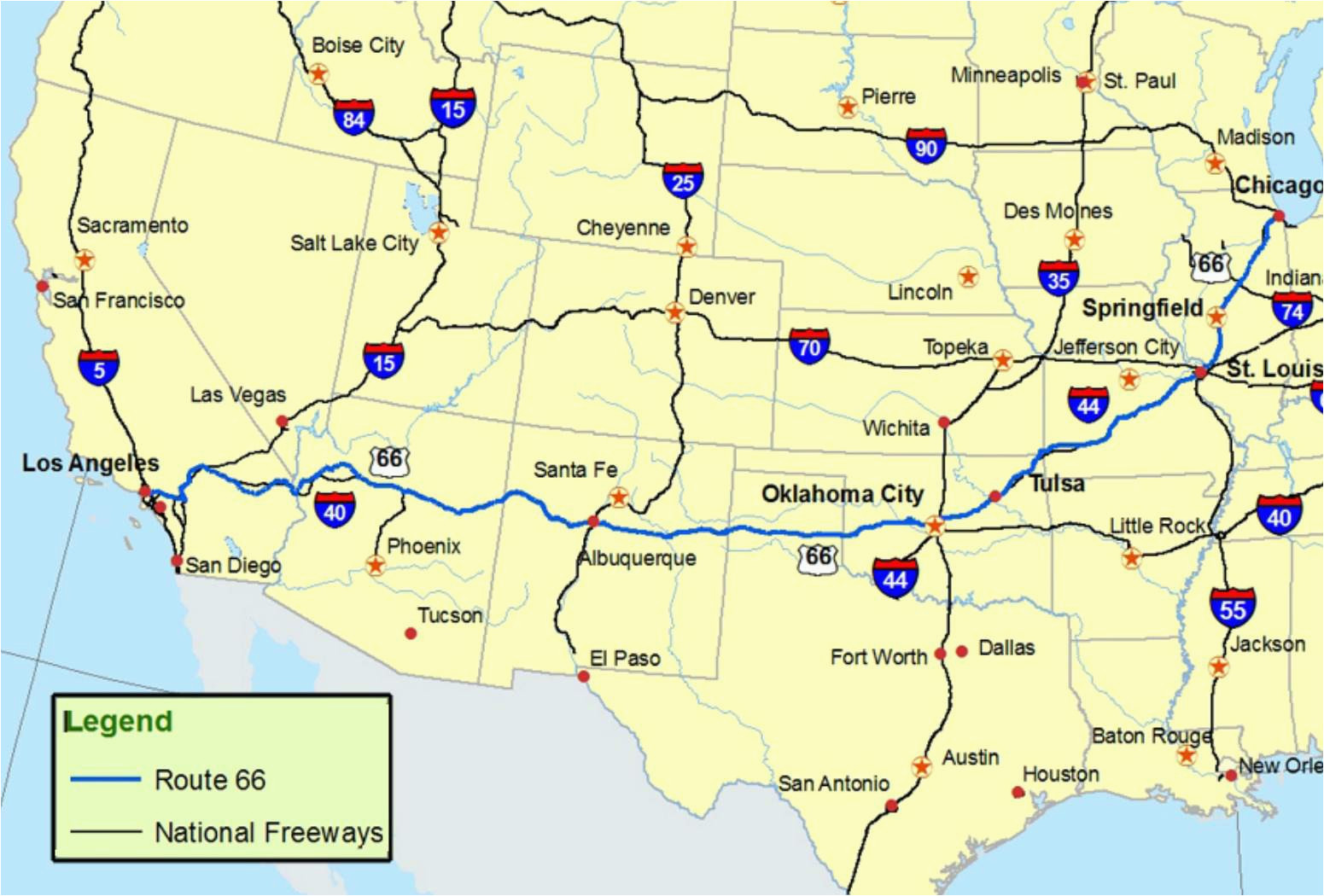 Plan A Road Trip >> South Texas Road Map Maps Of Route 66 Plan Your Road Trip