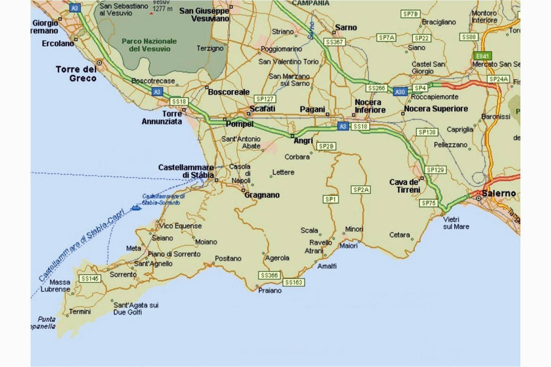 amalfi coast tourist map and travel information