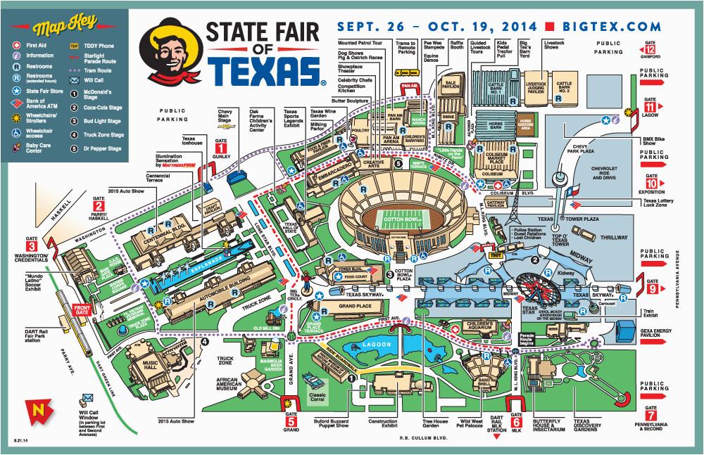 map of texas state fair business ideas 2013