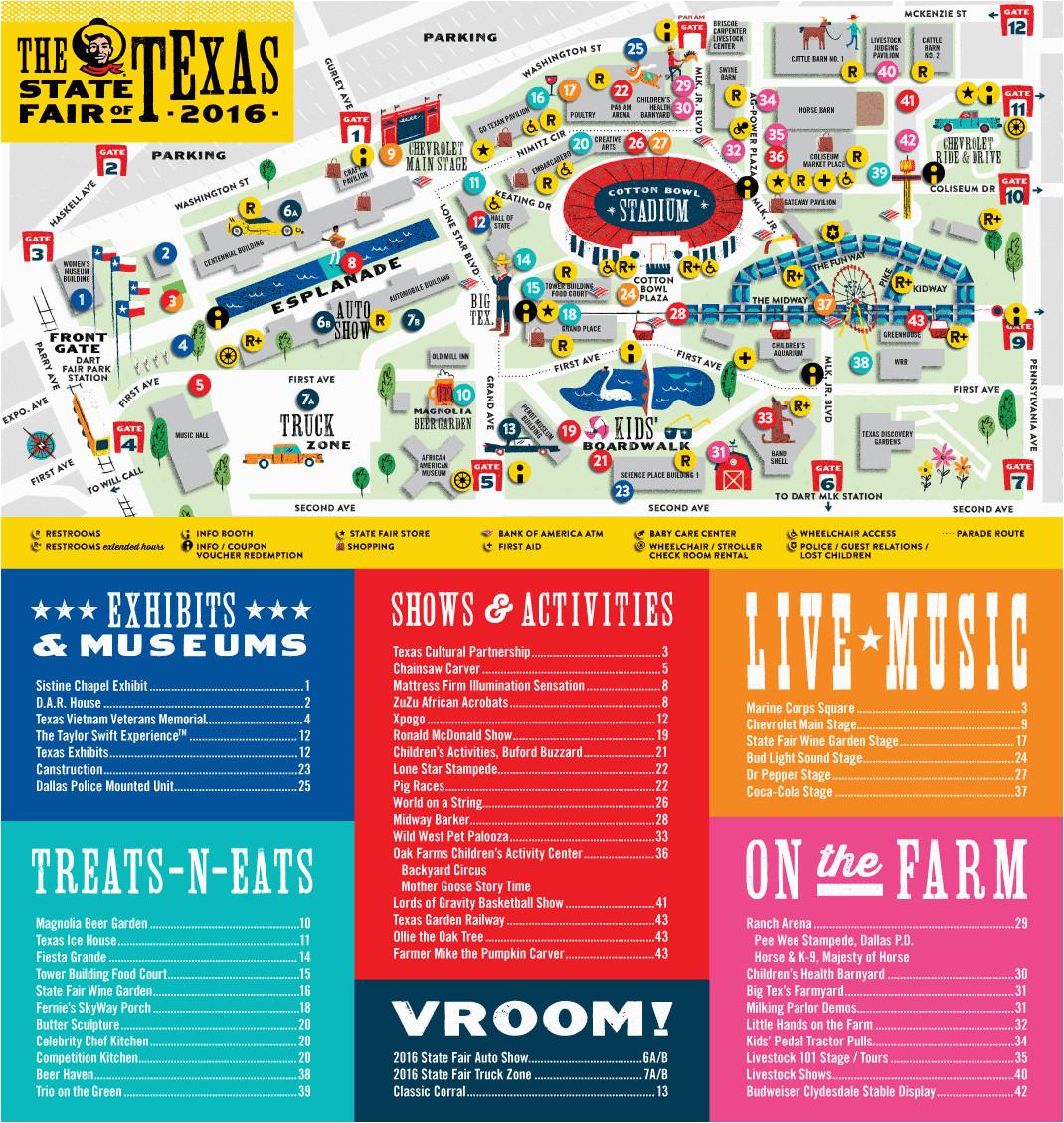 state fair of texas parking map business ideas 2013