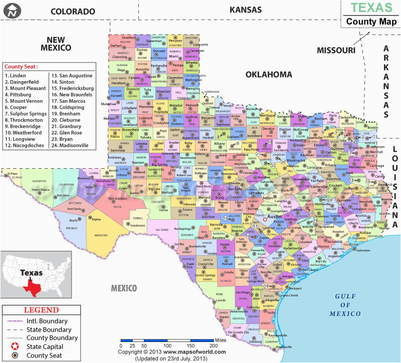 State Of Texas Counties Map Texas County Map List Of Counties In Texas Tx