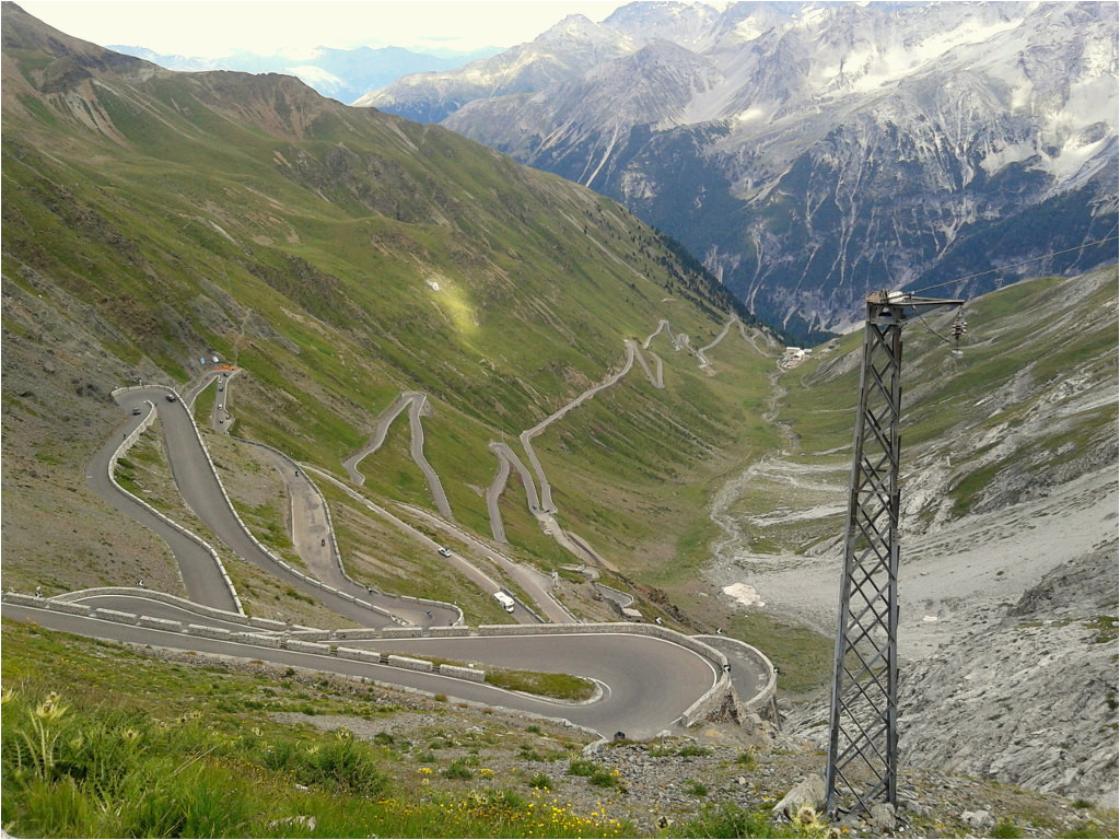 the stelvio pass by racing bike