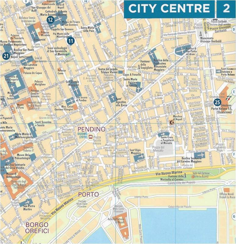 michelin naples street laminated map italy