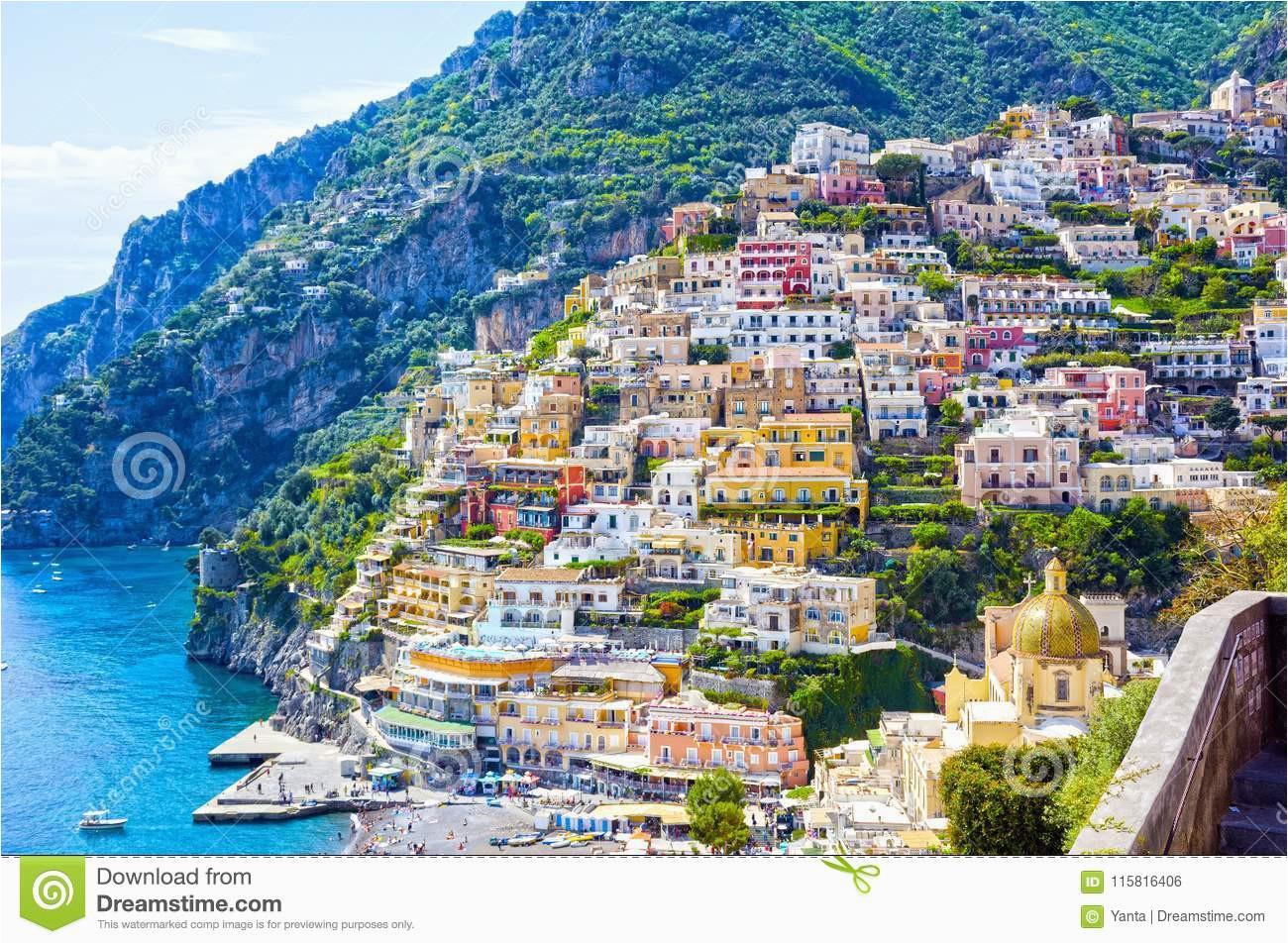 positano italy stock photo image of naples amalfi 115816406