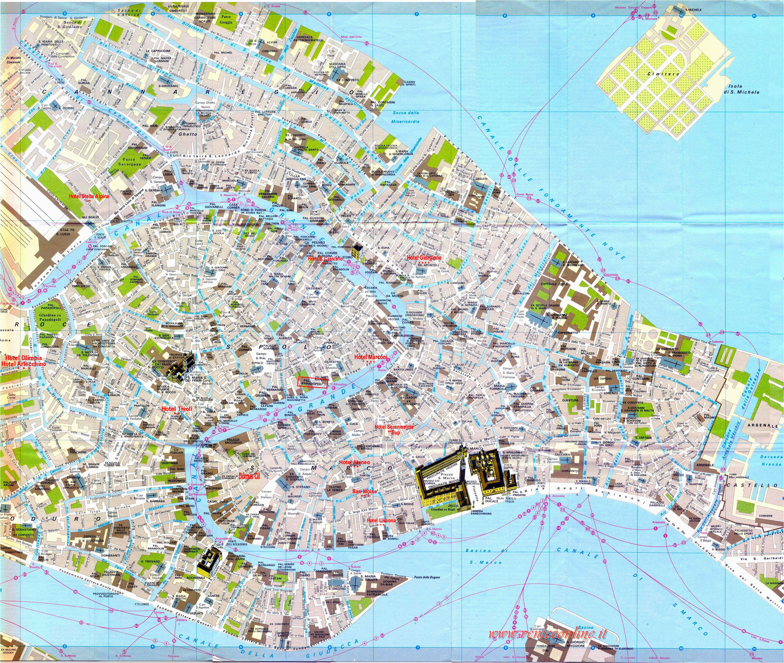 venice street map venice italy mappery places i d like to go