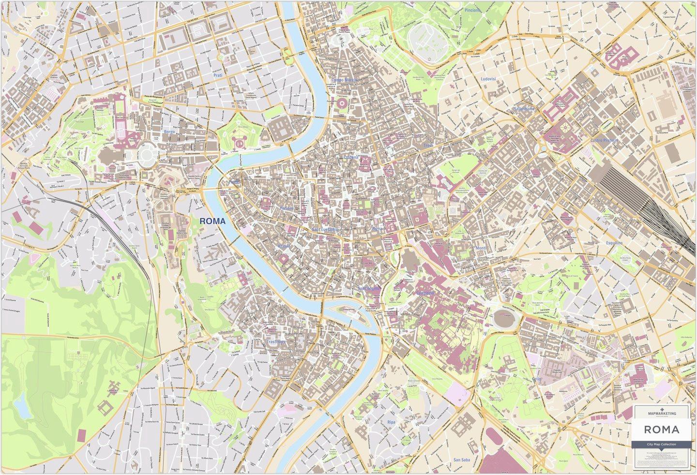 Street Map Of Rome Italy Secretmuseum