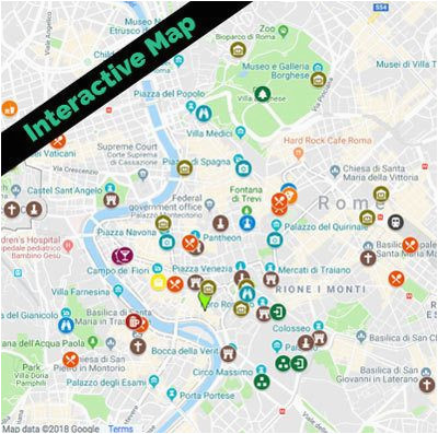 rome tourist map free food fun travel blog