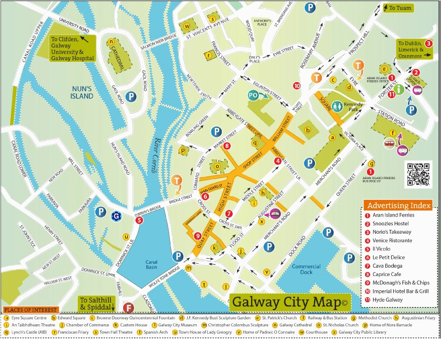 street map of galway town