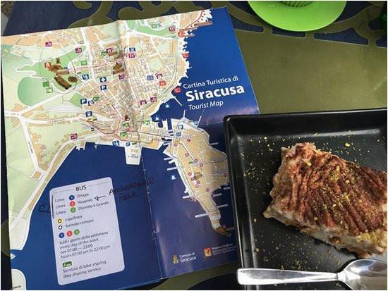 map and dessert picture of agora la cantina syracuse tripadvisor