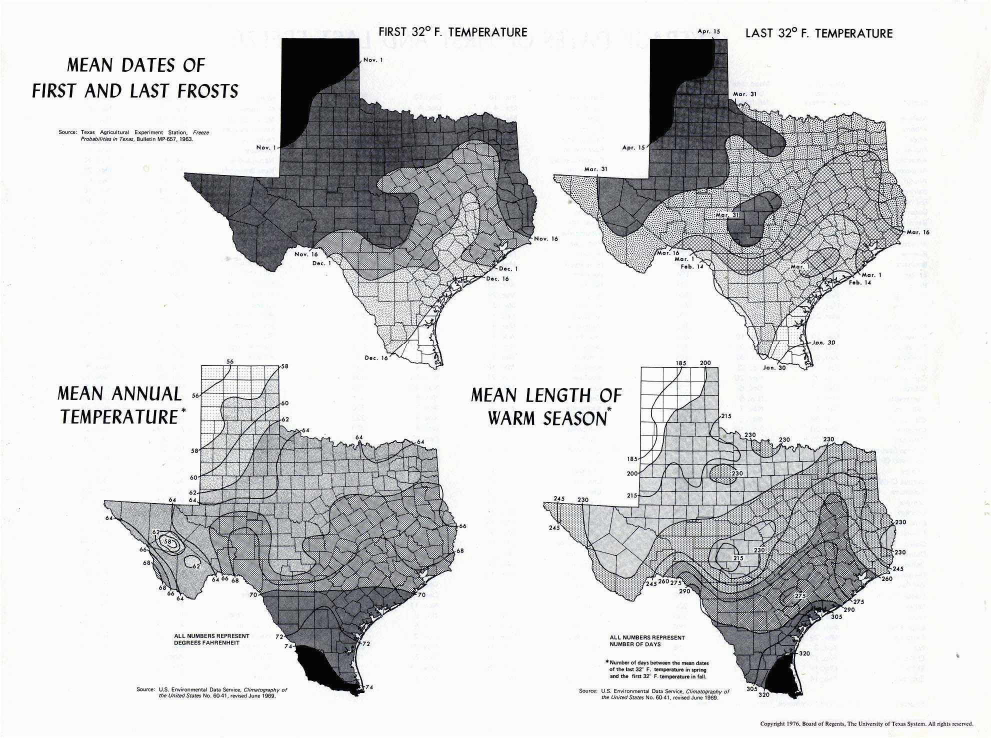Temperature Map Of Texas Map Of Texas Black and White ...