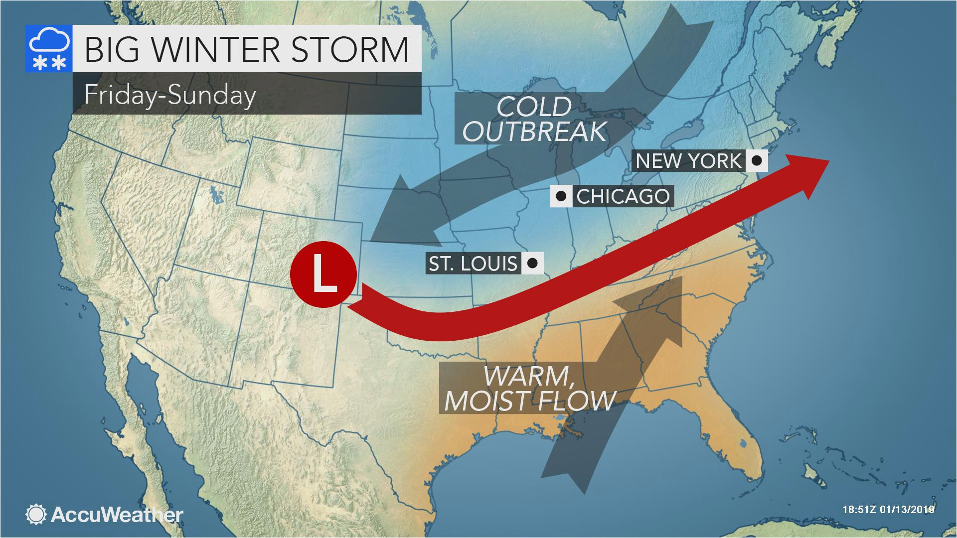Temperature Map Texas Eastern Central Us to Face More Winter ...