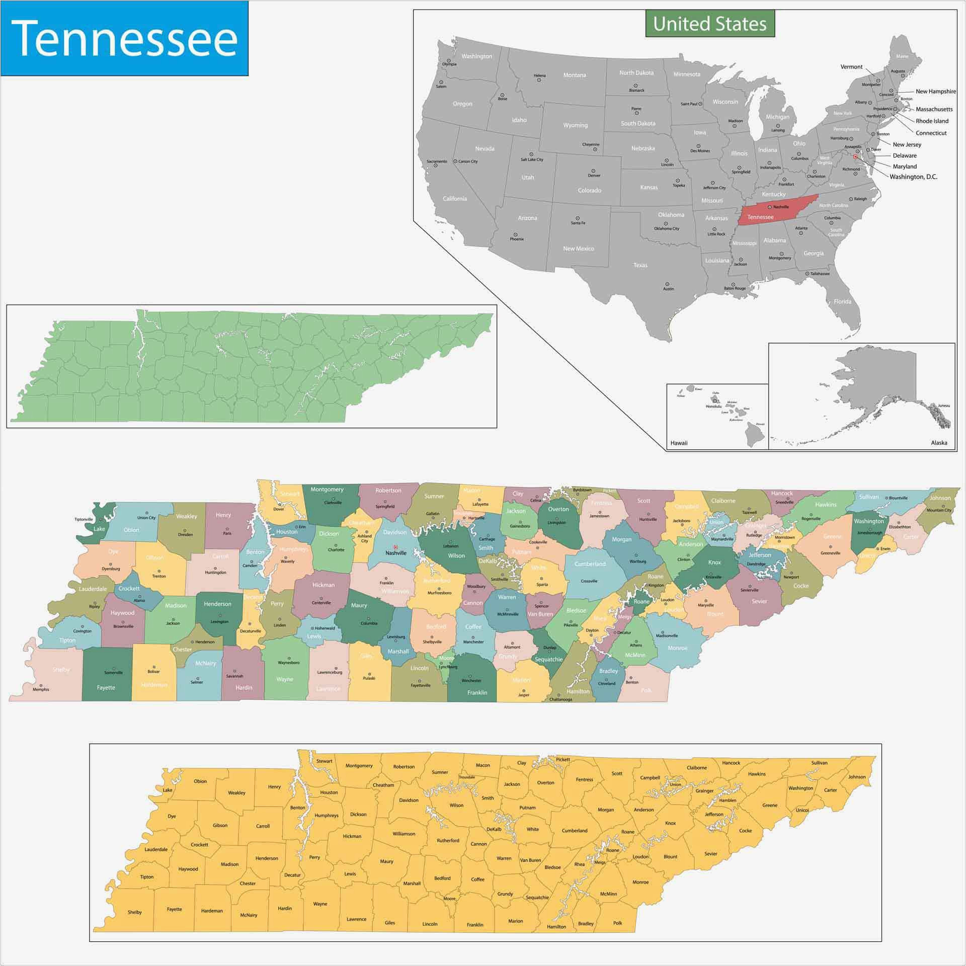 Tennessee Map Of towns Old Historical City County and State Maps Of Tennessee