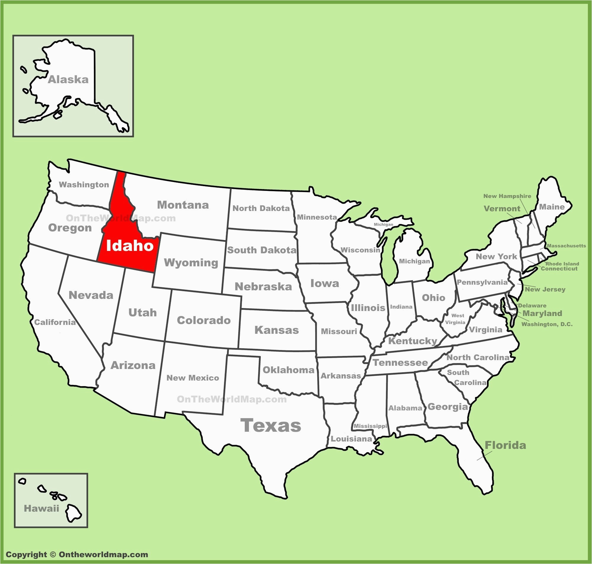 us state map time zone
