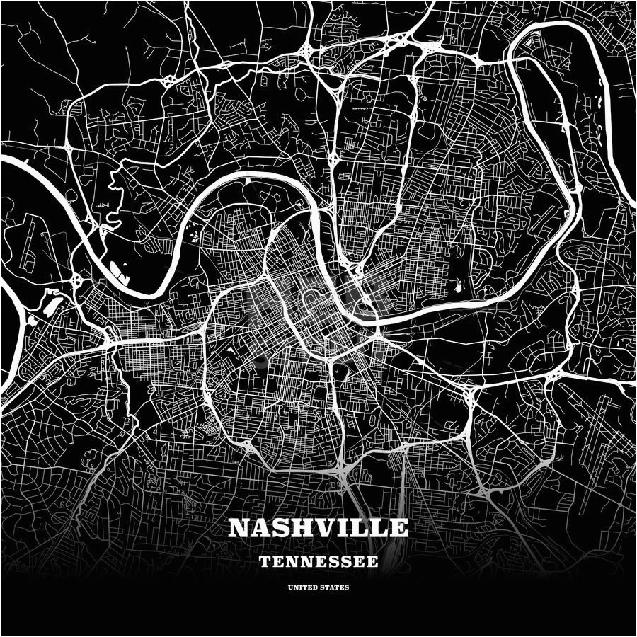 Tennessee State Map Outline Black Map Poster Template Of Nashville ...