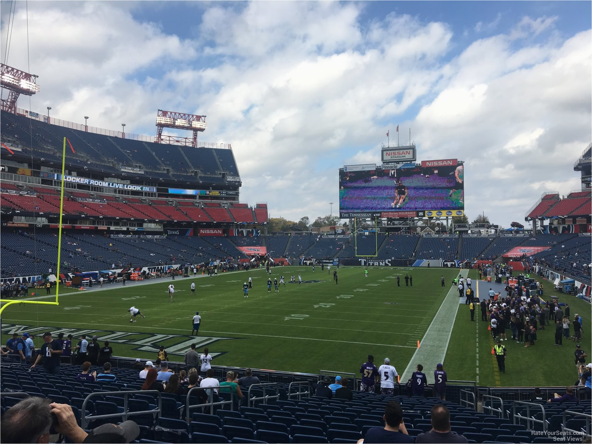 nissan stadium section 121 tennessee titans rateyourseats com