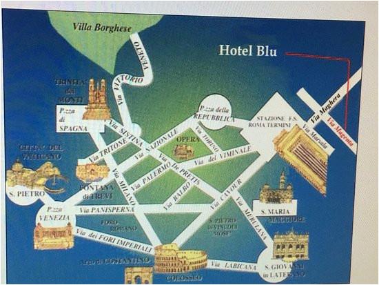 Termini Italy Map Hotel soggiorno Blu Roma Prices Reviews ...