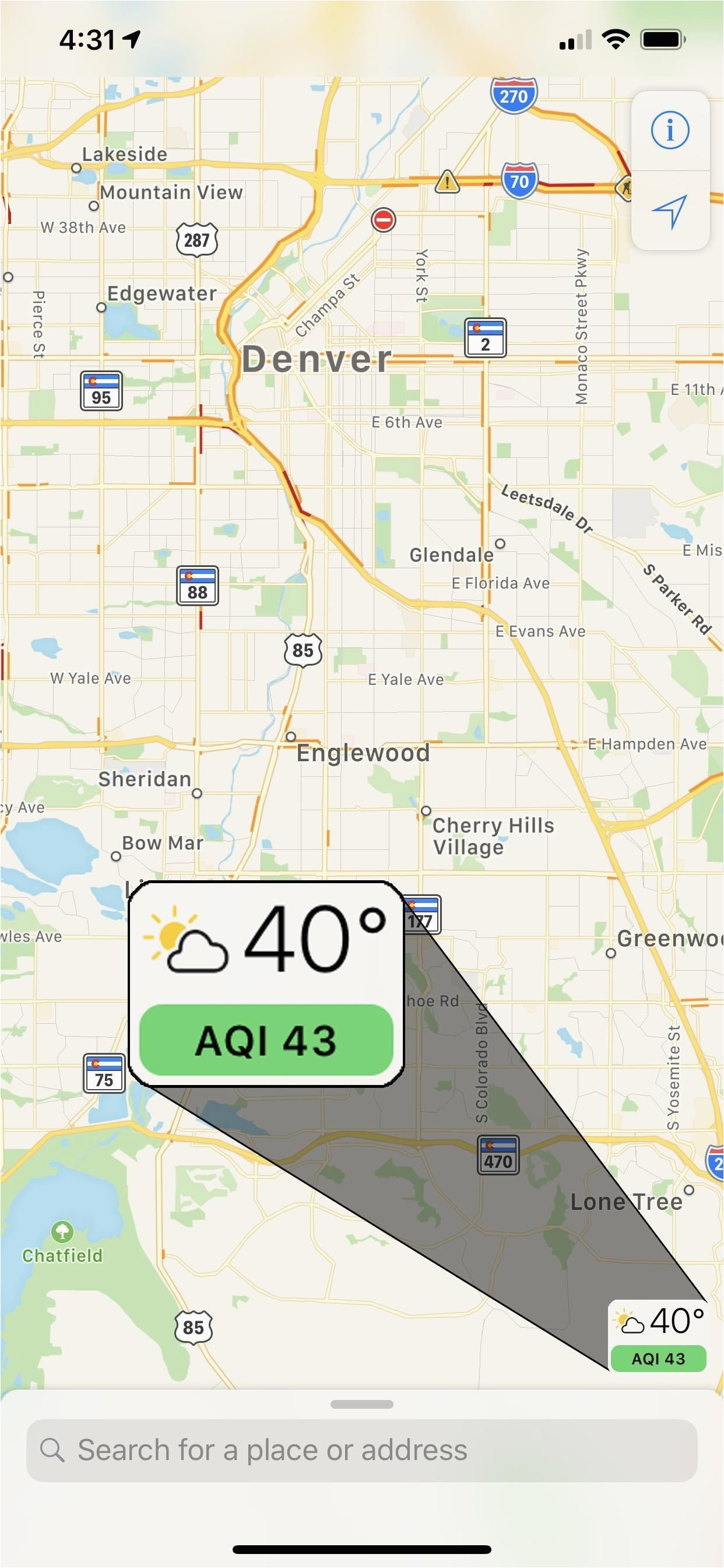 view air quality in apple maps to see how polluted cities