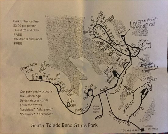 campground map layout picture of south toledo bend state park