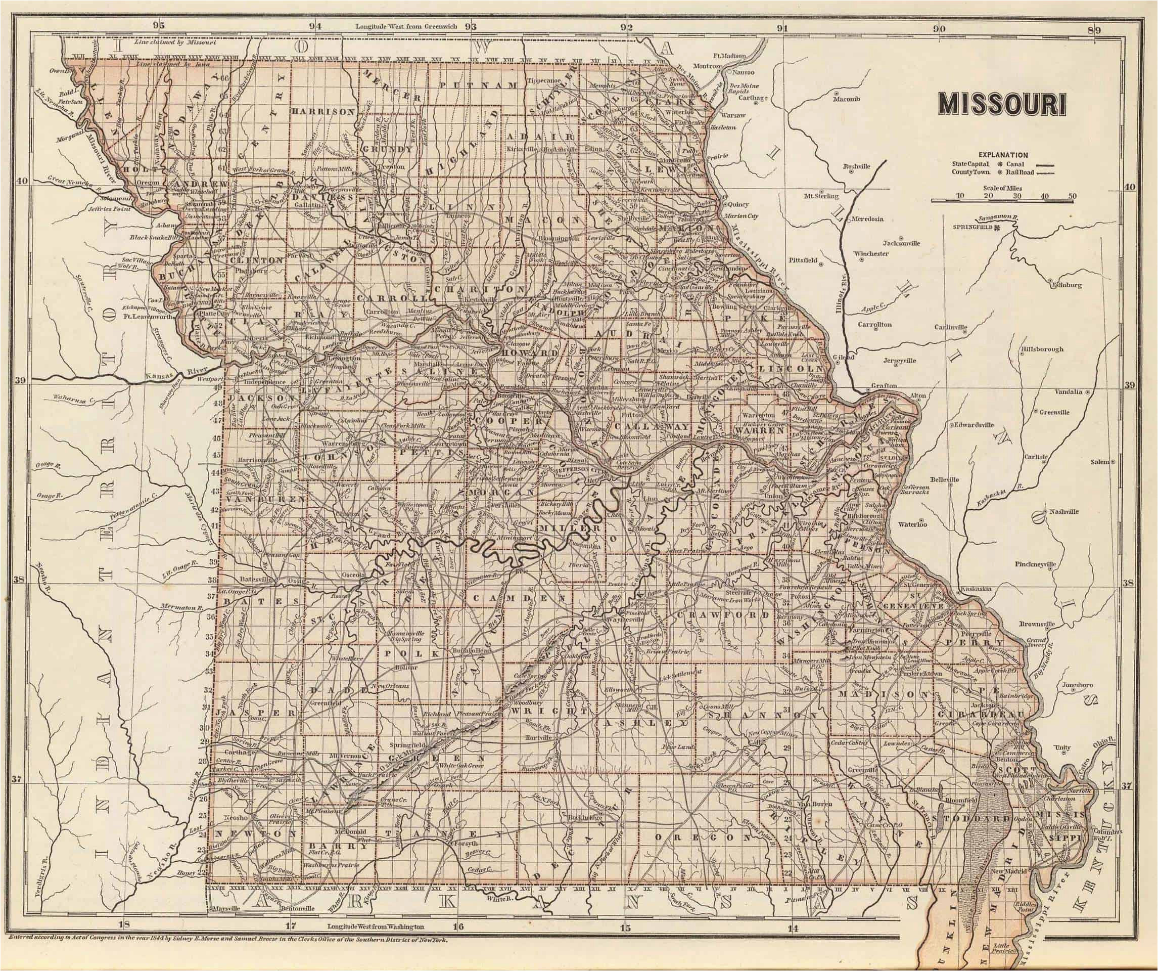 Texas County Missouri Map Old Historical City County and State Maps Of Missouri