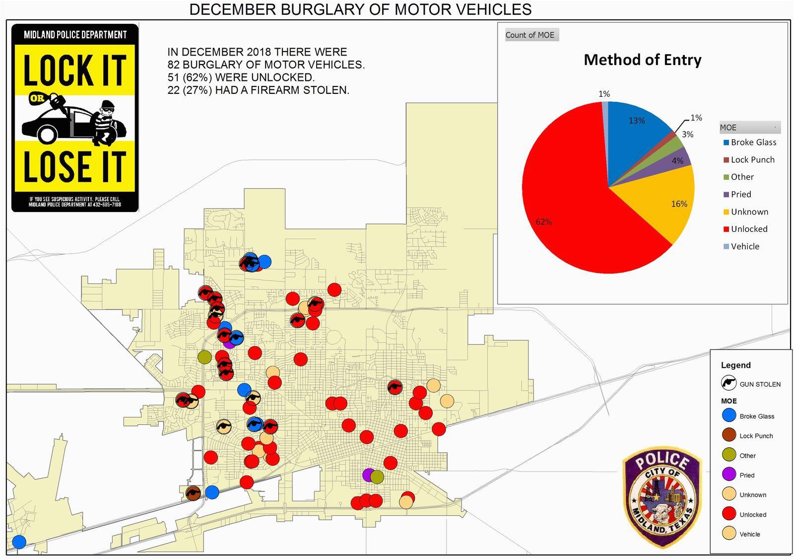 burglary of motor vehicles midland police department nextdoor