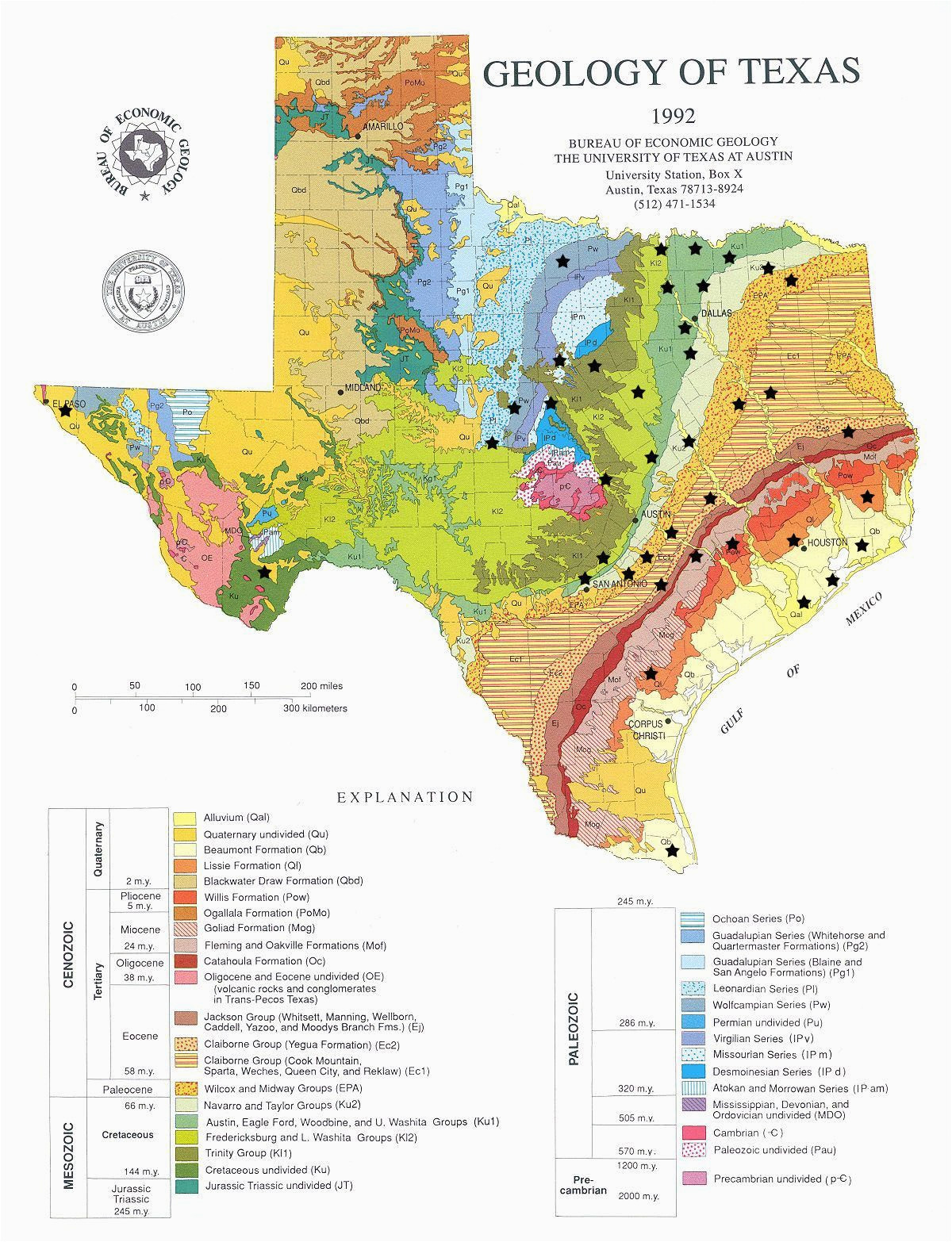 Texas Geology Map Geologically Speaking there S A Little Bit Of Everything In Texas