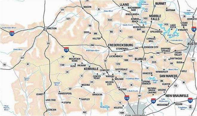 texas hill country map with cities business ideas 2013