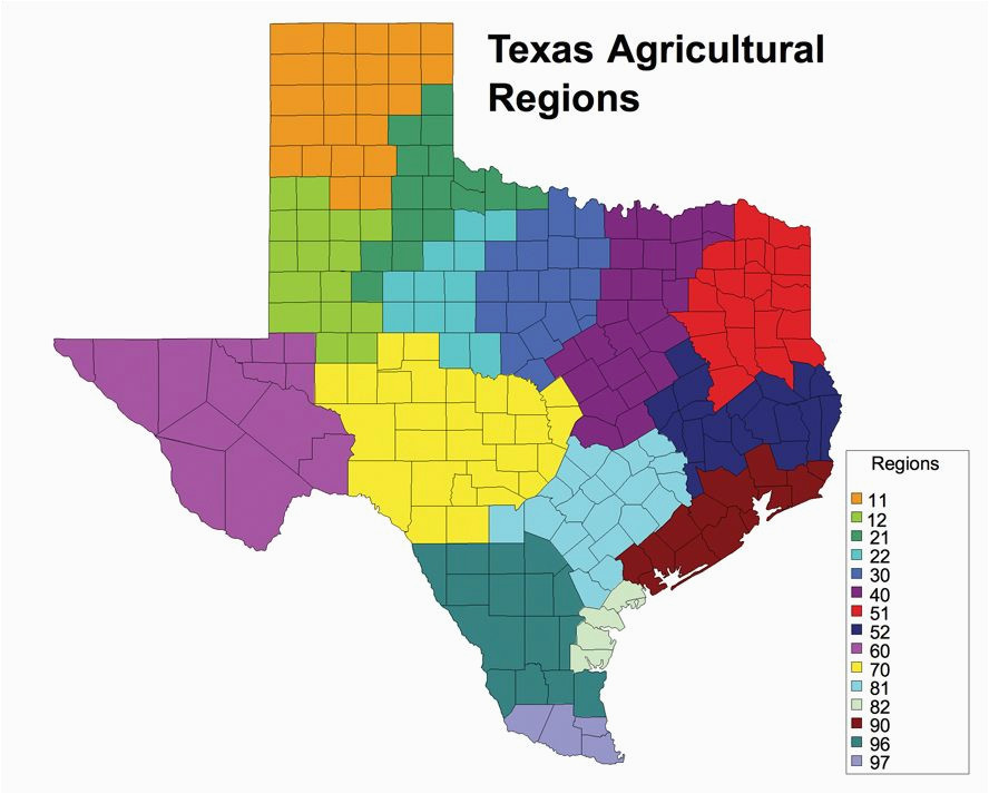 Texas Map Of Regions Texas Agriculture Regions This is A Great tool to Explore the