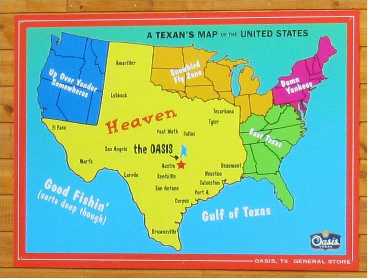 Texas Map San Marcos A Texan S Map Of the United States ... on map austin houston, map austin texas, map austin round rock,