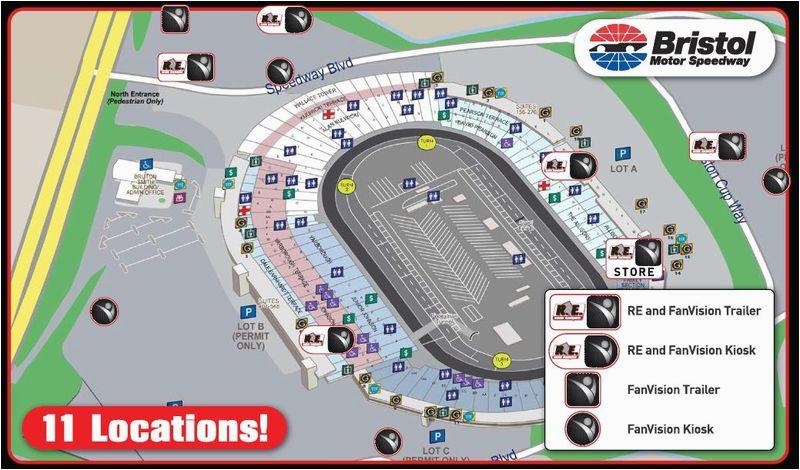 Texas Motor Speedway Track Map Bristol Motor Speedway Adds Full Service Scanner Station to Enhance